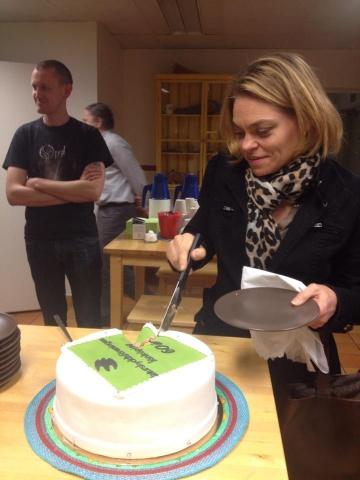 Årsstämma 2014 Jeanett äter tårta